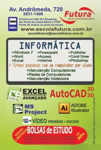 Panfleto escola de informatica